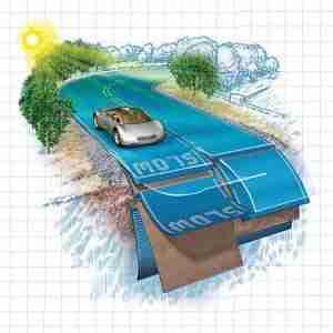 Güneş enerjisi üreten otoyollar