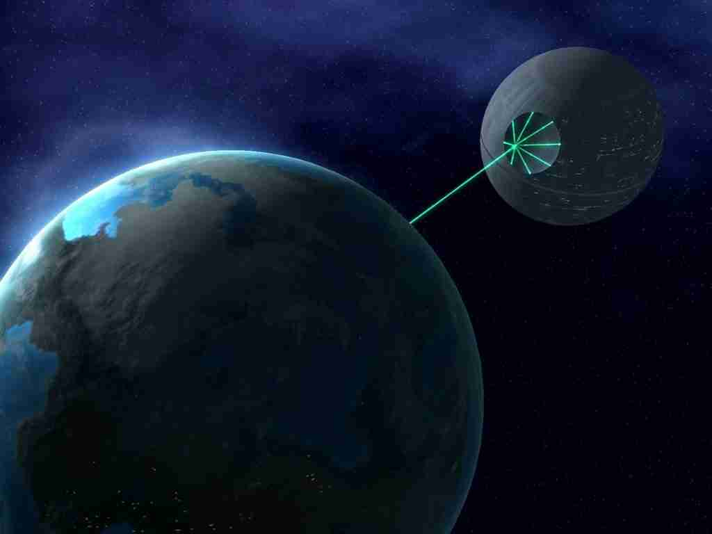 Death Star Destroying Alderaan Death Star Firing Alderaan