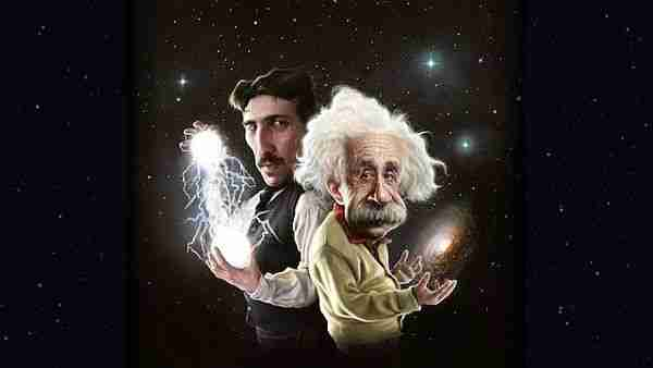 Einstein ve Tesla. Evren'in efendileri.