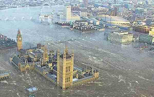 Deniz seviyesi sadece birkaç metre yükselse Londra ve İstanbul gibi şehirlerin kıyı kesimleri sular altında kalır.