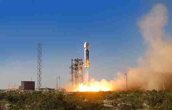 BlueOrigin'in roketi, Spacex Falcon 9'dan önce dikey iniş yaptı.